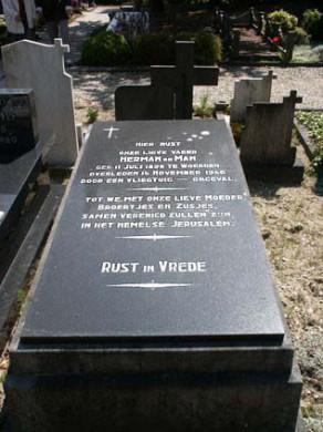 Grafsteen Herman de Man, Oudewater