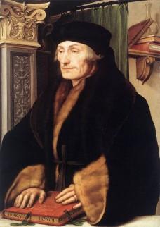Erasmus, door Hans Holbein de Jongere (1523)