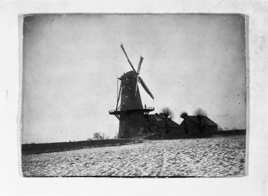 Historische foto van de Hompesche molen in Ohé en Laak/Stevensweert. Herkomst: Beeldbank Rijksdienst Cultuur Erfgoed.