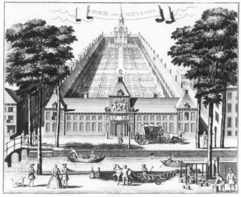 Gravure van R. Boitet, 1730