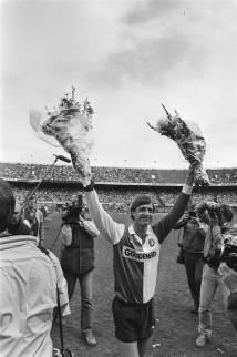 Johan neemt afscheid als voetballer in 1984