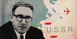 Kissinger op 34-jarige leeftijd als hoogleraar internationale betrekkingen aan Harvard. Hij deed vooral onderzoek naar de betrekkingen met de Sovjet-Unie.