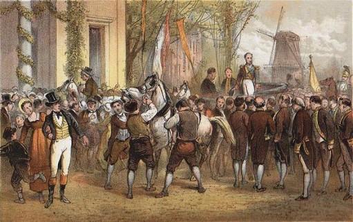 Aankomst van Willem I in Amsterdam, 1 december 1813.