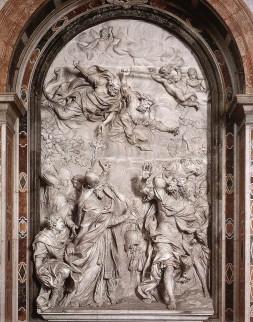 Paus Leo I houdt de Hunnen tegen (basrelief)