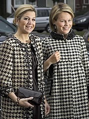 Destijds nog prinses Máxima en prinses Mathilde