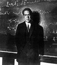 Niels Bohr (1885-1962) in zijn eigen instituut in Kopenhagen.