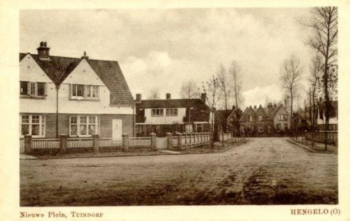 Straatbeeld van tuindorp 't Lansink in Hengelo, jaren 1920