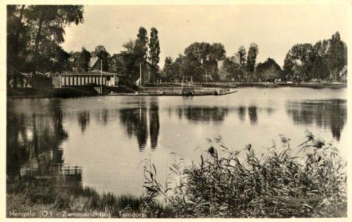Buitenzwembad Tuindorp of Vijverbad in vroeger tijden. Bron: Hotel 't Lansink