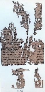 Pagina van het originele evangelie van Thomas. Onderdeel van de Nag Hammadigeschriften