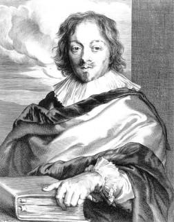 Portretprent van Constantijn Huygens, door Paulus Pontius