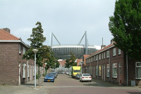 Philipsstadion in het Philipsdorp