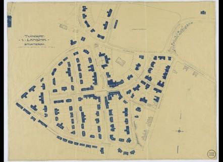 Plattegrond van tuindorp 't Lansink in Hengelo