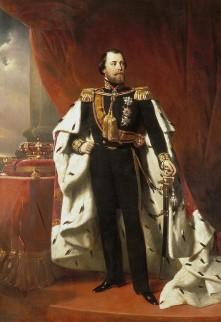 Portret van koning Willem III geschilderd door Nicolaas Pieneman
