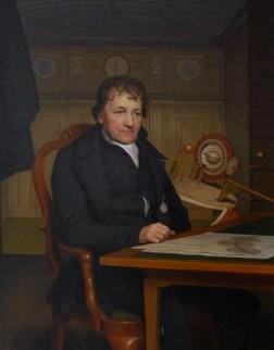 Portret van Eise Eisinga, 1827