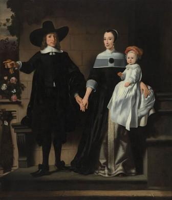 Portret van een getrouwd stel met kind