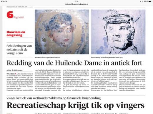 Krantenartikel naar aanleiding van het onderzoek
