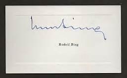 Rudolf Bing - signature