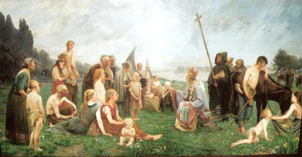Wilibrordus predikt voor de Friezen
