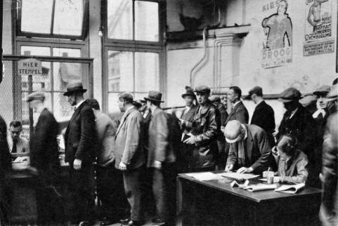 Stempellokaal in Amsterdam 1933