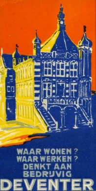 Poster tentoonstelling Hanze- en industriestad Deventer in Historisch Museum