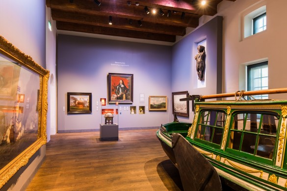 De Koningssloep in de tentoonstelling Republiek aan Zee in Het Scheepvaartmuseum in Amsterdam.