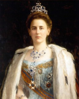 Foto van schilderij van Wilhelmina door Pieter de Josseling de Jong, 1901.