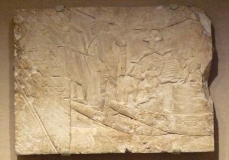 Egyptische havenscene, ca. 1336-1295 voor Christus, in het Brooklyn Museum