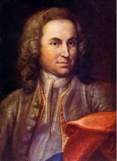 Mogelijk jeugdig portret van Bach, 1715, door J.E. Rentsch de Oudere