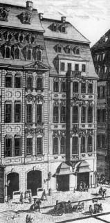 Prent van Café Zimmermann, 1723