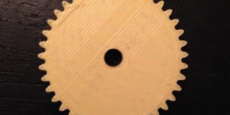 3-D geprint tandwiel