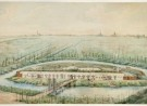 Aquarel fort in de collectie van het Noord-Hollands Archief.