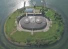 Luchtfoto Fort aan het Pampus