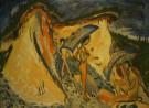 Schilderij van Ernst Ludwig Kirchner met badende vrouwen op Fehmarn