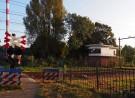 Het seinhuis bij de overweg aan de Eykmanlaan